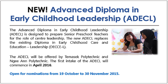 ADECL Open For Nominations From 19 Oct To 30 Nov 2015