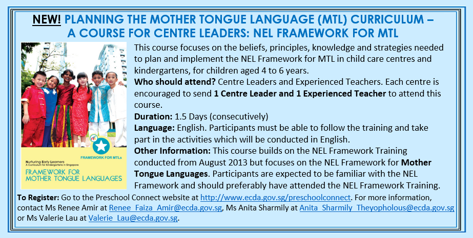 NEW! PLANNING THE MOTHER TONGUE LANGUAGE CURRICULUM