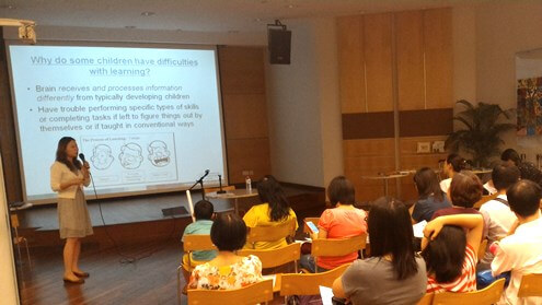 Workshop by Ms Lim Chun Yi on Supporting Children with Learning Difficulties.