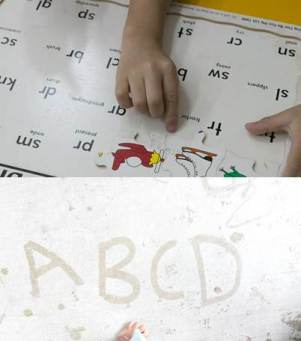 Alphabet song and chart