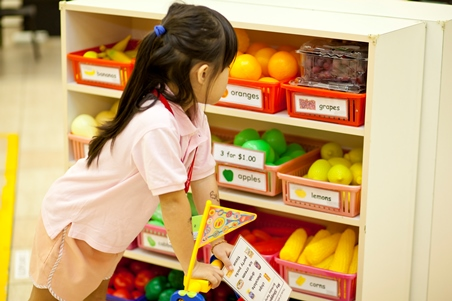 Pretend play shopping experience