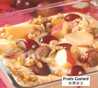 Fruity custard