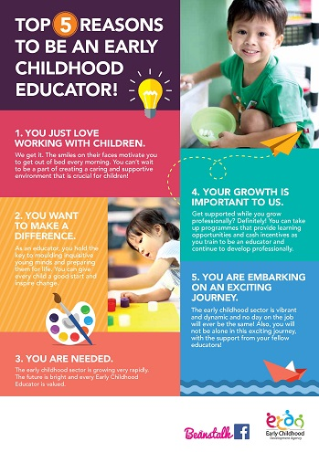 Top 5 reasons to be an EC educator