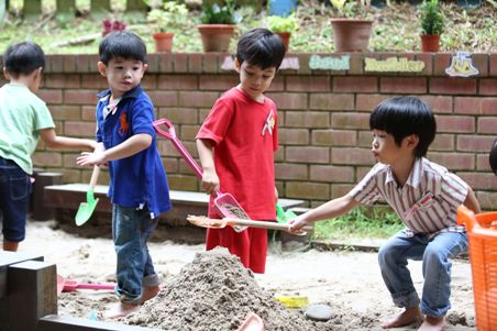 Children in sandpit